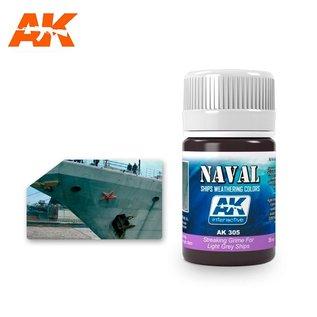 AK Interactive AK-305 STREAKING GRIME FOR LIGHT GREY SHIPS
