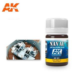 AK Interactive AK301 DARK WASH FOR WOOD DECKS