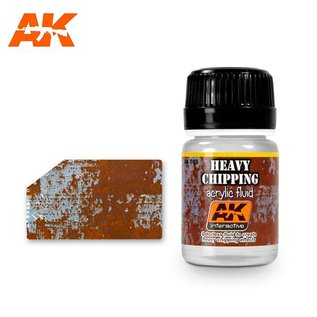 AK Interactive AK-089 HEAVY CHIPPING EFFECTS ACRYLIC FLUID