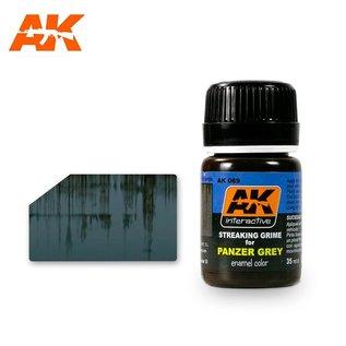 AK Interactive AK-069 STREAKING GRIME FOR PANZER GREY VEHICLES