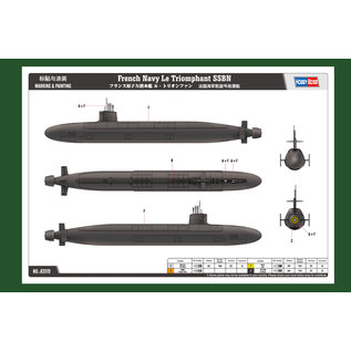 "HobbyBoss French ""Le Triomphant "" Submarine - 1:350"