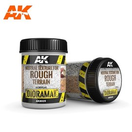 AK Interactive AK Interactive - NEUTRAL TEXTURE FOR ROUGH TERRAINS - 250ml - Base product (Acrylic)