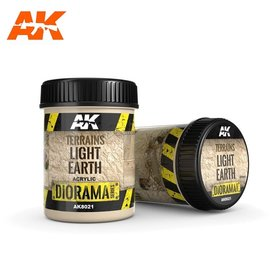 AK Interactive AK Interactive - TERRAINS LIGHT EARTH - 250ml (Acrylic)