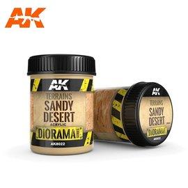 AK Interactive AK Interactive - TERRAINS SANDY DESERT - 250ml (Acrylic)