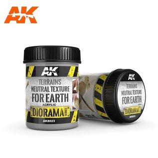 AK Interactive TERRAINS NEUTRAL TEXTURE FOR EARTH  - 250ml (Acrylic)