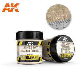 AK Interactive AK Interactive - LIGHT & DRY CRACKLE EFFECTS - 100ml (Acrylic)