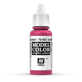 Vallejo Vallejo - Model Color - 802 - Sunset Rot (Sunset Red), 17 ml