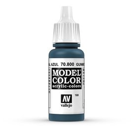 Vallejo Vallejo - Model Color - 800 - Blauer Stahl (Gunmetal Blue), 17 ml