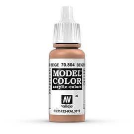 Vallejo Vallejo - Model Color - 804 - Beigerot (Beige Red), 17 ml
