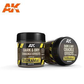 AK Interactive AK Interactive - DARK & DRY CRACKLE EFFECTS - 100ml (Acrylic)