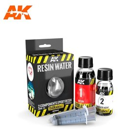 AK Interactive AK Interactive - RESIN WATER 2-COMPONENTS EPOXY RESIN - 180ml