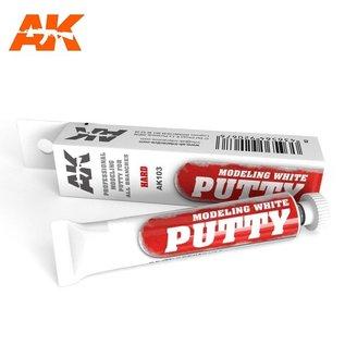 AK Interactive Modeling white putty / Spachtelmasse, weiß
