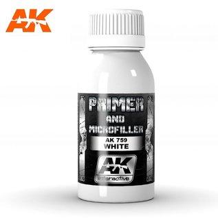 AK Interactive White primer and Microfiller / Grundierung und Füller, weiß