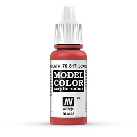 Vallejo Vallejo - Model Color - 817 - Scharlach (Scarlet), 17 ml