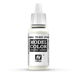Vallejo Vallejo - Model Color - 820 - Cremeweiss (Offwhite), 17 ml