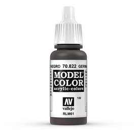 Vallejo Vallejo - Model Color - 822 - Schwarzbraune Tarnung (German Camo Black Brown), 17 ml