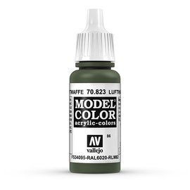 Vallejo Vallejo - Model Color - 823 - Grüne Tarnung Luftwaffe (Luftwaffe Camo Green), 17 ml