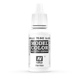 Vallejo Vallejo - Model Color - 842 - Glanzweiss (Gloss White), 17 ml