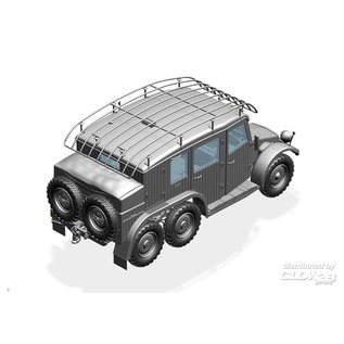 Bronco Models German Krupp Protze Kfz.19 Radio command Car  - 1:35