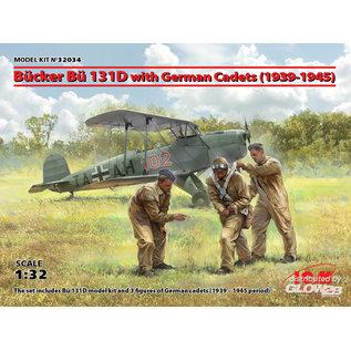 ICM Bücker Bü 131D w.German Cadets(1939-45) Limited - 1:32