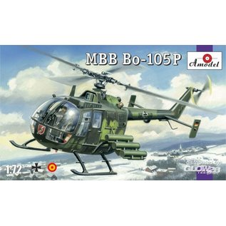 Amodel MBB Bo-105P helicopter, military version  - 1:72
