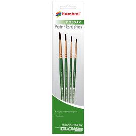 Humbrol Humbrol - Coloro Pinsel Set (Größen 00, 1, 4 & 8)