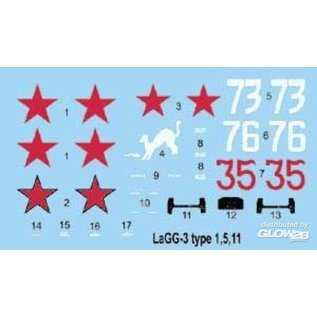 Roden LaGG-3 Series 1,5,11 in 1:72