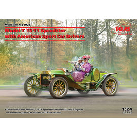 ICM ICM - Model T 1913 Speedster with American Sport Car Drivers - 1:24