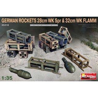 MiniArt German Rockets 28cm WK Spr & 32cm WK Flamm in 1:35