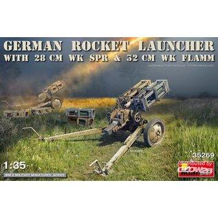 MiniArt German Rocket Launcher with 28cm WK Spr & 32cm WK Flamm in 1:35