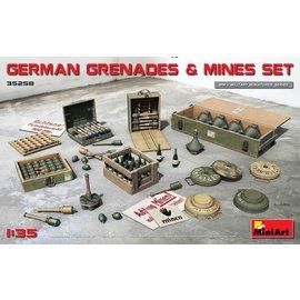 MiniArt MiniArt - Deutsche Granaten und Minen Set - 1:35