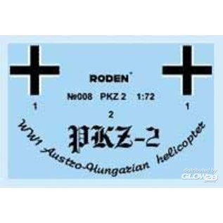 Roden PKZ-2 Austro-Hungarian Helicopter WWI - 1:72