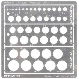 TAMIYA Tamiya - Gravurschablone Kreisformen 1 - 12,5mm Breite