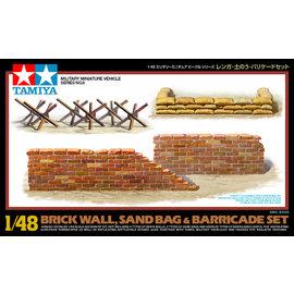 TAMIYA Tamiya - Diorama-Set Ziegelmauer, Sandsäcke und Barrikaden - 1:48