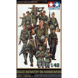 TAMIYA Tamiya - Figuren-Set dt. Infanterie im Manöver - 1:48
