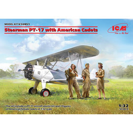 ICM ICM - Boeing Stearman PT-17 with female American Cadets - 1:32