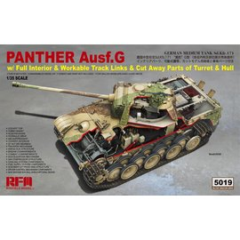 Rye Field Model RFM - Panther Ausf.G with full interior & cut away parts & workable track links - 1:35