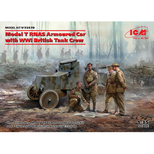 ICM Model T RNAS Armoured Car with WWI British Tank Crew - 1:35