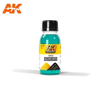 AK Interactive Photoetch Burnishing - Beize für Fotoätzteile - 100ml
