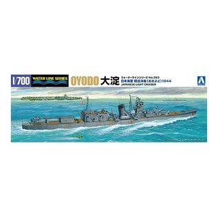Aoshima Japanese Light Cruiser Oyodo - Waterline No. 353 - 1:700