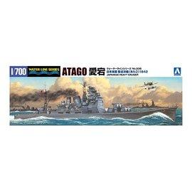 Aoshima Aoshima - I.J.N. Heavy Cruiser Atago (1942 Solomon Island) - Waterlin No. 338 - 1:700
