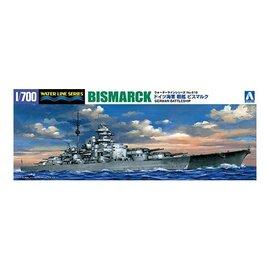 Aoshima Aoshima - German Battleship Bismarck - Waterline No. 618 - 1:700