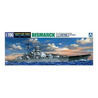 Aoshima German Battleship Bismarck - Waterline No. 618 - 1:700