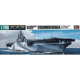 Hasegawa Hasegawa - U.S. Aircraft Carrier USS Ticonderoga - Waterline No. 710 - 1:700