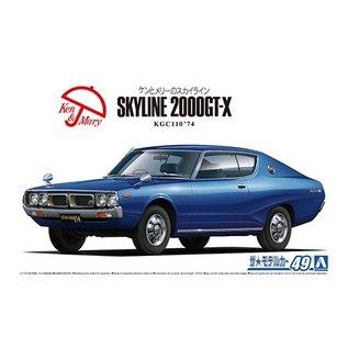 Aoshima Nissan Skyline KGC110 HT200 GTX 74 - 1:24