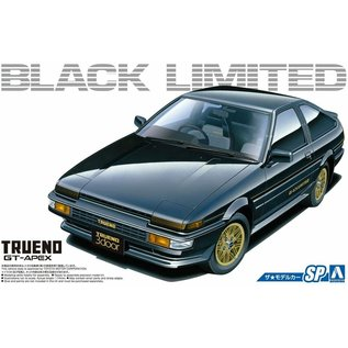 Aoshima Toyota AE86 Sprinter Trueno GT Apex Black Limited 86 - 1:24