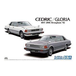 Aoshima Nissan P430 Cedric And Gloria 4HT 280E Brougham 1982 - 1:24