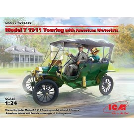 ICM ICM - Model T 1911 Touring with American Motorists - 1:24