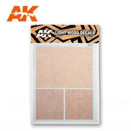 AK Interactive AK Interactive - Light Wood Decals - Holz-Imitat-Nassschiebebilder