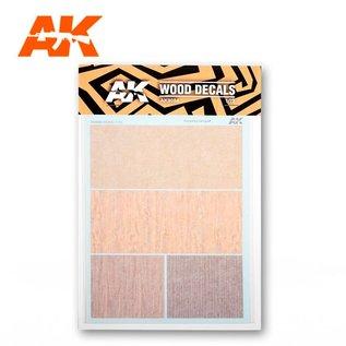 AK Interactive Wood Veins Decals - Holz-Imitat-Nassschiebebilder